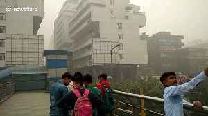 Residents left with burning eyes as thick smog blankets New Delhi [Video]