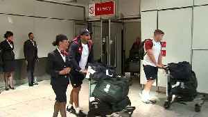 England Rugby World Cup squad welcomed back home [Video]