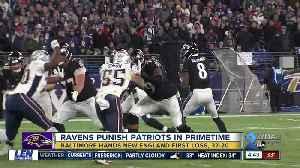 News video: Ravens win 37-20, hand Patriots first loss