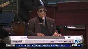 WATCH: Motown legend Stevie Wonder performs at Rep. John Conyers' funeral [Video]