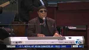 WATCH: Motown legend Stevie Wonder performs at Rep. John Conyers' funeral [Video]