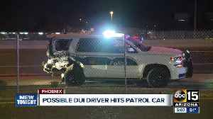News video: Police: DUI suspect rams into parked Phoenix police SUV