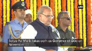 Satya Pal Malik takes oath as Governor of Goa [Video]
