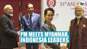 After discussing terror at ASEAN summit, PM Modi meets Suu Kyi, Widodo [Video]
