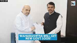 After meeting Amit Shah, Fadnavis says Maharashtra will get new govt soon [Video]