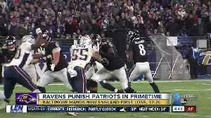 Ravens win 37-20, hand Patriots first loss [Video]