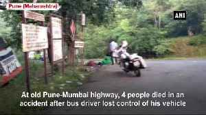 4 dead 30 injured after bus vehicle lost control on old Pune Mumbai highway [Video]