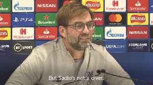 News video: Sadio Mane is not a diver – Liverpool boss Jurgen Klopp