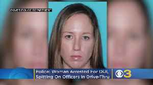 News video: Police: Delaware Woman Arrested For DUI, Spitting On Officers In McDonald's Drive-Thru