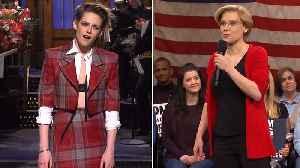 'SNL' Rewind: Kristen Stewart Returns to Host Variety Show, Sketches Highlight Political Issues | THR News [Video]