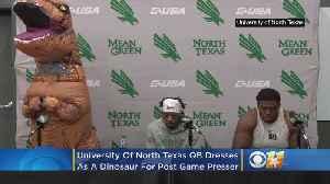 Video: UNT QB Mason Fine Dressed As Dinosaur For Post Game Presser [Video]