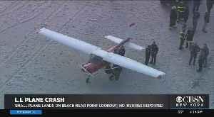 Small Plane Makes Emergency Landing On Long Island Beach [Video]