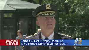 News video: James O'Neill Steps Down As NYC Police Commissioner
