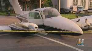 Plane Crash Lands On Doral Street [Video]