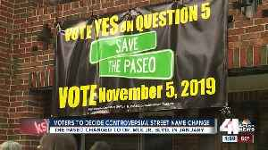 News video: Voters to decide controversial street name change