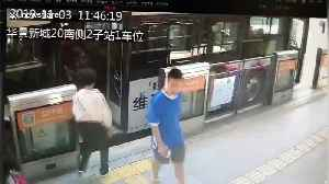 Elderly Chinese man dragged by bus for several metres after his foot gets stuck in doors [Video]