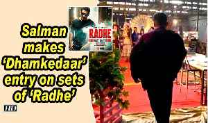 Salman makes whistle-worthy entry on sets of 'Radhe' [Video]