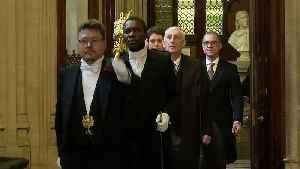 Sir Lindsay makes first procession to Commons as Speaker [Video]