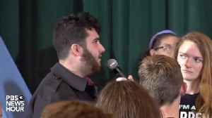 News video: Elizabeth Warren Agrees With Event Attendee Who Says The U.S. Military Commits Genocide