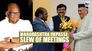 Maharashtra impasse: Sena leaders meet Governor; Sharad Pawar briefs Sonia [Video]