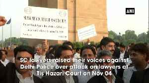 Tis Hazari COurt Incident SC lawyers protest at India Gate demands enforcement of Lawyers Protection Act [Video]