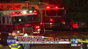 Firefighters injured after battling a 2-alarm fire in Southwest Baltimore [Video]