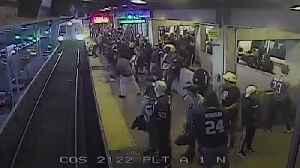 Railway worker pulls passenger to safety [Video]