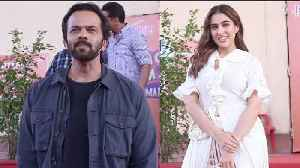 SPOTTED !! SARA ALI KHAN & ROHIT SHETTY @ SET OF MOVIE MASTI WITH MANISH PAUL [Video]
