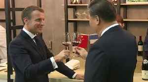 Macron woos Xi with French wine, beef in drive for China trade [Video]