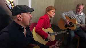 Nicola Sturgeon joins folk singer for a singalong on the campaign trail [Video]
