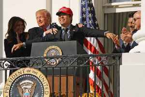Kurt Suzuki Criticized for Wearing 'MAGA' Hat During White House Visit [Video]