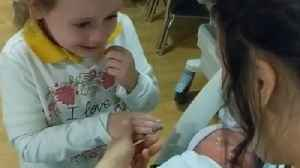 News video: 6-year-old can't contain tears of joy after meeting baby sister