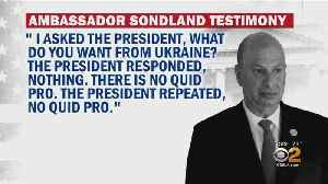 More Testimony Transcripts Released In Trump Impeachment Inquiry [Video]