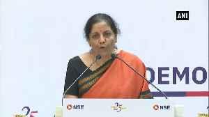 India needs vibrant stock markets FM Nirmala Sitharaman [Video]