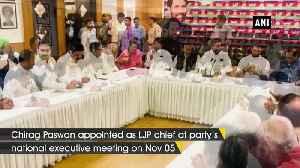 Ram Vilas Paswan positive of LJP touching new heights under Chirag leadership [Video]