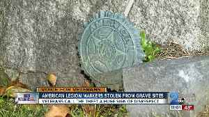 American Legion markers stolen from grave sites [Video]