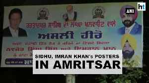 Watch: Posters calling Navjot Sidhu, Imran Khan 'heroes' put up in Amritsar [Video]