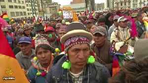 Thousands of Bolivians march over disputed election [Video]