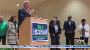 Former VP Biden Makes Surprise Appearance At Fitzgerald Victory Party [Video]