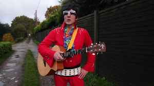 'Britain's worst' Elvis Presley impersonator snubbed from a tribute act competition - because he's so bad. [Video]