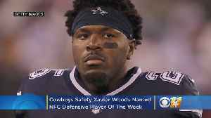 Cowboys S Xavier Woods Named NFC Defensive Player Of The Week [Video]