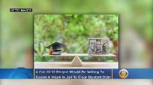 Study: Some Grads Would Spend A Week In Jail To Erase Student Loan Debt [Video]