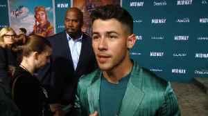 Nick Jonas, Mandy Moore Premiere 'Midway' [Video]