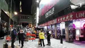 Emergency services at Piccadilly Theatre after ceiling falls in [Video]