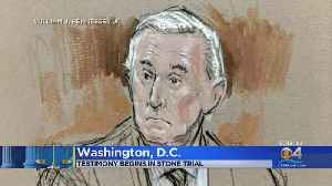 News video: Testimony Begins In Roger Stone Trial