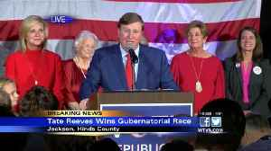 News video: Tate Reeves speaking after being elected Mississippi's next governor