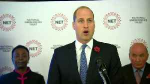 Duke of Cambridge attends launch of new charity [Video]