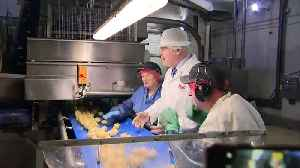 Prime Minister Boris Johnson visits the Tayto factory in NI [Video]