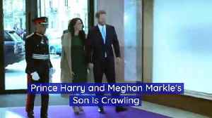 Prince Harry and Meghan Markle's Son Is Crawling [Video]