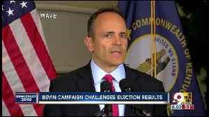 News video: Kentucky Gov. Matt Bevin officially challenges vote, cites history of vote fraud